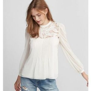Express Lace Open Back Blouse